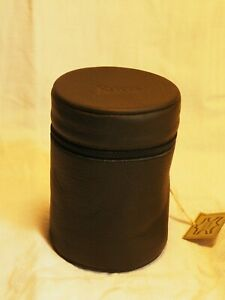 Leica Objektiv Schutzhülle aus Leder ca. 8,7 x 12,3 cm