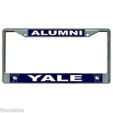 YALE ALUMNI BLUE METAL CAR LICENSE PLATE FRAME MADE IN USA