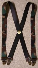 """Suspenders Children 1""""x30"""" FULLY Elastic Military Camouflage NEW Made in USA"""