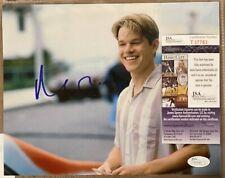 Matt Damon Signed Autographed 8x10 Photo Good Will Hunting Jsa Coa