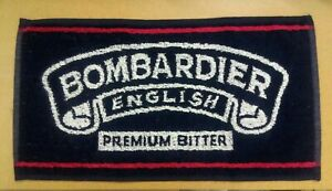 5 bombardier english premium bitter ale home pub drip drink bar towel man cave *