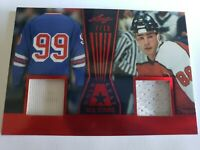 W. Gretzky E. Lindros 2017 GOLD LEAF ALL STARS DUAL JERSEY 7/10 HALL OF FAMERS