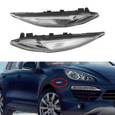 Clear Front Bumper Side Marker Lights Fit For Porsche 958 Cayenne 2011-2014
