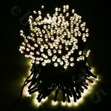 100 Yellow LED Solar String Fairy Lights Waterproof Outdoor Party Decoration 48'