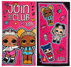 Girls LOL Surprise Dolls Beach Towel Kids Bath Towel Holiday Swimming kit Wrap