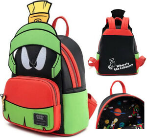 Loungefly x Looney Toons Marvin The Martian Cartoon Cosplay Mini Backpack Bag