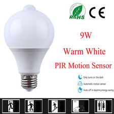 US 7W/9W E27 Auto Sensor LED Smart Switch Bulb Light Lamp Dusk to Dawn White