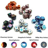 2020 7Pcs NEW Metal DnD Dice Rainbow Polyhedral Dice Set Custom Dice With Bag