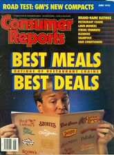 1992 Consumer Reports Magazine: Best Meals, Best Deals/Restaurant Chains/Shampoo