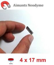 Lot aimant cylindre 4X17mm Très Puissant Neodyme N35 : Fixation, Magnet, Fimo...