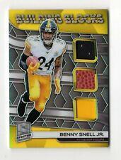 BENNY SNELL JR NFL 2019 SPECTRA BUILDING BLOCKS MATERIALS #/99 (STEELERS)