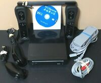 Nintendo Wii Black Console RVL-101 - Wii Sports Bundle - Clean & Tested Working