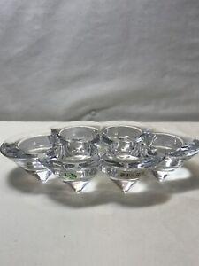 Diamond Star Candle Clear Glass 6 Tea Light Holder NWT
