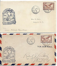 1938 B.C. Canada FFC Cover Lot of 2 - Prince George & Ware - C5, Caribou Cachet*