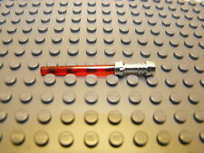 Lego Star Wars Red Light Saber Lightsaber Silver Hilt Weapon New