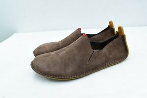 Soul of Africa Vivobarefoot ABABA 47 Brown Leather Slip On Shoes Mens