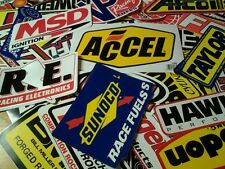 Lot of 25+ Drag Racing Decals Stickers NHRA NASCAR Chevy Mopar Hot Rod Ford