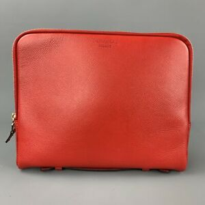 SERAPIAN Red Leather Zip Up iPad Case