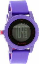Nixon Women's Genie A326230 Purple Silicone Quartz Sport Watch