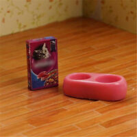 1/12 Skala Puppenhaus Miniatur Küche Garten Hundefutter auf Schüssel WJ