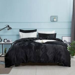 Natural Silk Bedding Set Cover Bed Sheet Luxury 4PCS Satin Bedding Bed Linen New