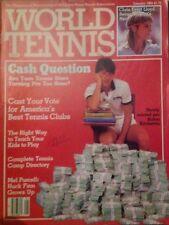 'World Tennis' US Tennis Magazine - January 1984 - Aaron Krickstein.