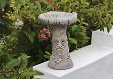 Green Man Bird Bath Decoration, Stone Garden Ornament, Cornwall Stoneware ® Gift