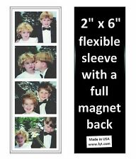 150 Magnetic Photo Booth Frames 2x6 Full Magnet Back, white/black, free ship