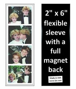 150 Magnetic Photo Booth Frames 2x6 Full Magnet Back, white/black, free ship