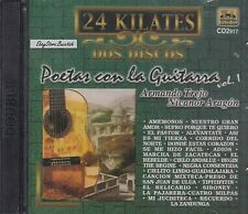 Poetas Con La Guitrra 24 Kilates Vol 1  2CD New Sealed