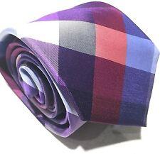 "Mens Express Neck Tie Slim Skinny 100% Silk Purple Plum Red Blue New 2.75"""