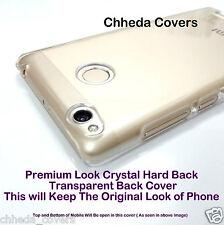 Best Fitting Premium Crystal HARD Transparent Back Cover Case For Redmi 3S Prime
