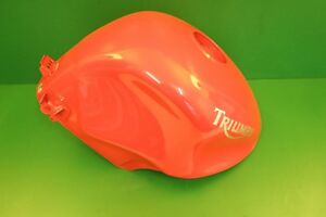 TRIUMPH FUEL PETROL RED tt600 SPEED FOUR dented