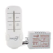 1 Channel Way Wireless Light Lamp 110V Garage Switch Splitter Remote Control