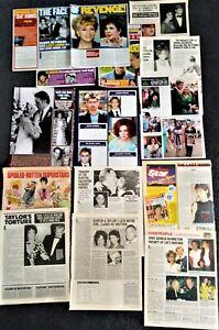 Elizabeth Taylor magazine clippings: Liz Taylor + Richard Burton Debbie Reynolds