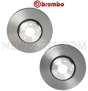 Pair Set of 2 Front Floating Disc Brake Rotors Brembo For BMW F02 F06 F10 F12