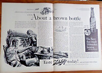 1938 Schlitz Beer Ad  About a Brown Bottle