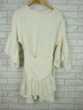Maje Dress off white/ Cream Bell sleeves Sz 2, 10