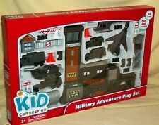 MILITARY PLAYSET 2015 30 PC KID CONNECTION JET HELICOPTER TANK PLAY MAT ARMY*