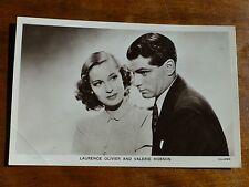 LAURENCE OLIVIER & VALERIE HOBSON No.P291 Film Partners Postcard i20