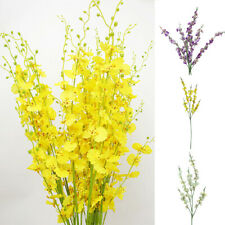 1Pc Artificial Flowers Orchid Garden DIY Party Wedding Holiday Craft Home Decor
