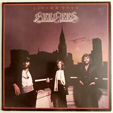 BEE GEES LIVING EYES Vinyl Record 1982 LP PICTURE & LYRIC INSERT Excellent