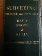 Surveying Theory And Practice 1966 Fifth Edition Davis Foote & Kelly