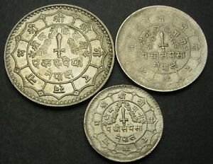 NEPAL - Lot of 3 Coins from 1975/1977 - 2785