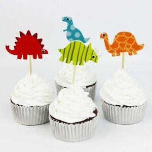 Cupcake Cake  Toppers Dinosaurs 24pcs