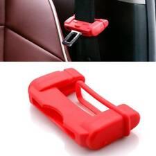 1x Car Safty Accessories Seat Belt Buckle Clip Silicone Anti-Scratch Cover Red/