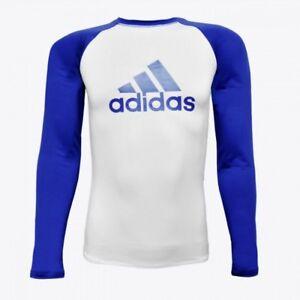 adidas Jiu-Jitsu IBJJF, MMA Blue Belt Long Sleeve Rashguard