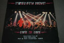 "TWELFTH NIGHT ""Live And Let Live"" LP VINYL / MUSIC FOR NATIONS RECORDS - MFN18"