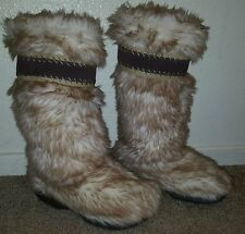 women's Apres winter snow mommoth yeti Ski mukluk fur boots size 5