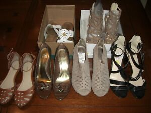 LOT OF 6 WOMEN'S SHOES Size 8.5 - 9 Nine West,AK Anne Kleine,Madden Girl,Nicole